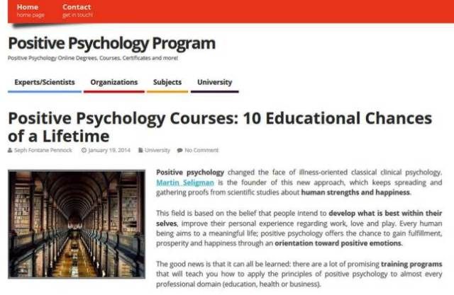 Positive Psychology Courses