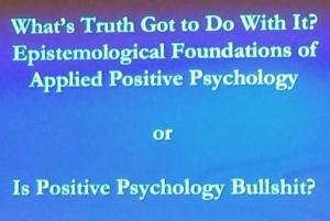 Positive Psychology = Bullshit