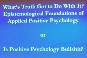 Positive Psychology = Bullshit