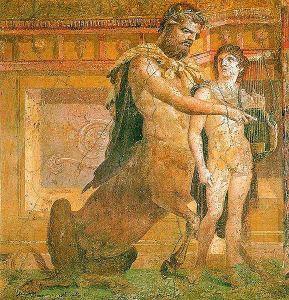 Chiron_teaching_Achilles