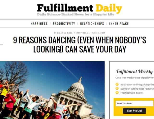 Fulfillment Daily - Rose - Dancing