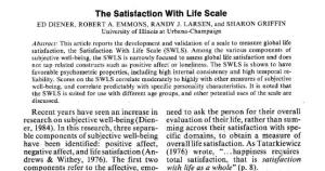 Satisfaction with Life