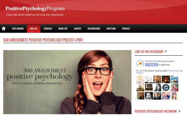 500 Positive Psychology Pieces