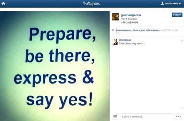 Prepare, be there, express & say yes!