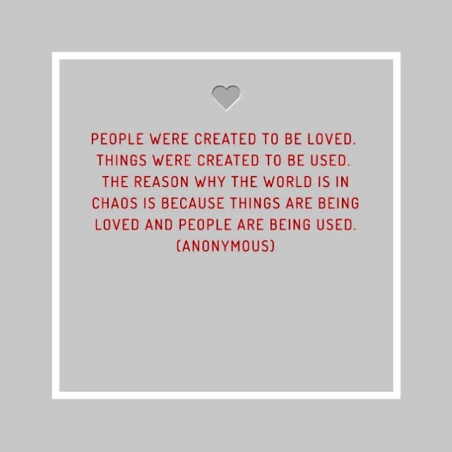 People Were Created to be Loved People Were Created to be