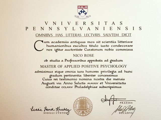 Master Of Applied Positive Psychology At Penn This Is