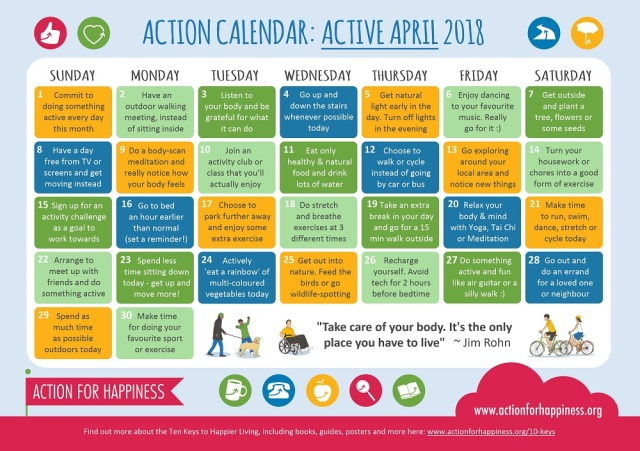 Action for Happiness | Active April
