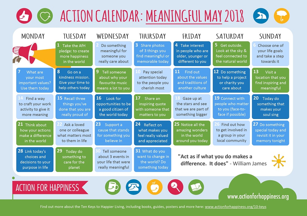 Meaningful May | Action for Happiness