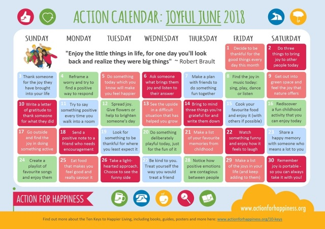 Joyful June | Action for Happiness