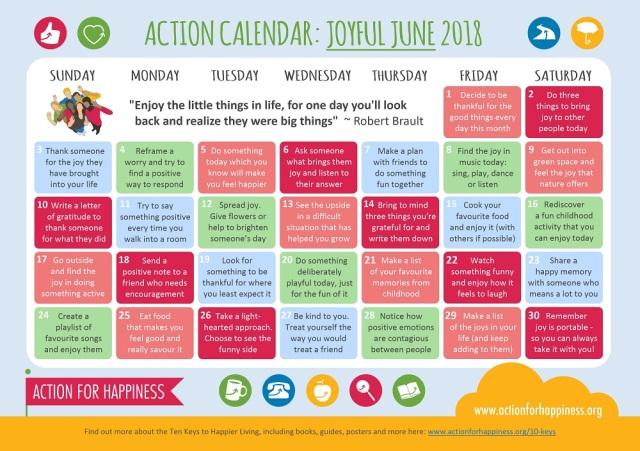 Joyful June | Action for Happiness