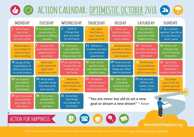 Optimistic October - Action for Happiness