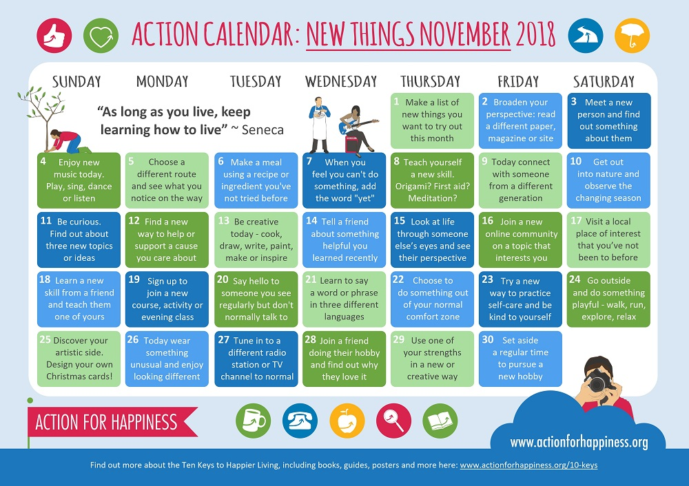 Action for Happiness | Calendar | November